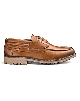 Leather Cleated Casual Shoe Standard Fit