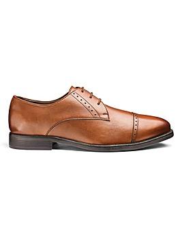 Leather Toe Cap Derby Shoes Standard Fit