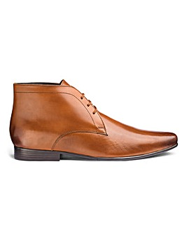 Leather Formal Chukka Boots Standard Fit