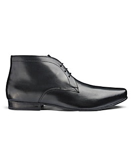 Leather Formal Chukka Boots Extra Wide