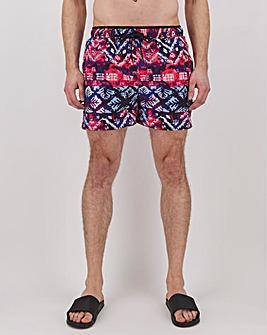 Pink Print Aztec Swimshort