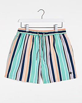 Vertical Stripe Pastel Swimshort