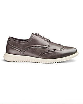 Leather Look Lightweight Brogues Wide Fit