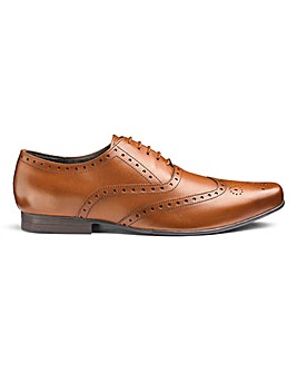 Formal Leather Brogues Ex Wide Fit