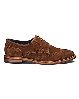 Suede Gibson Brogues Wide Fit