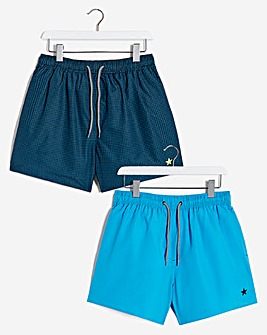 2 Pack Blue Swimshort