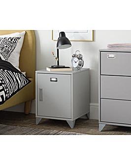 Loft Locker Grey Bedside Cabinet