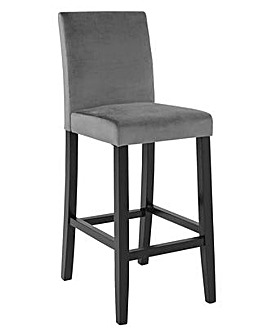 Winslow Velvet Tall Bar Stool - Grey