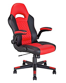 Raptor Faux Leather Ergonomic Gaming Chair - Red