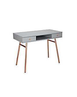 Valence Office Desk - Rose Gold