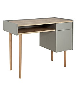 Skandi 1 Drawer Desk - Two Tone