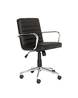Alvar Faux Leather Office Chair - Black