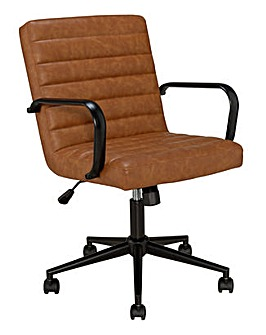 Habitat Alvar Faux Leather Office Chair - Tan