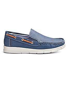 Cushion Walk Slip on Boat Shoes Standard Fit