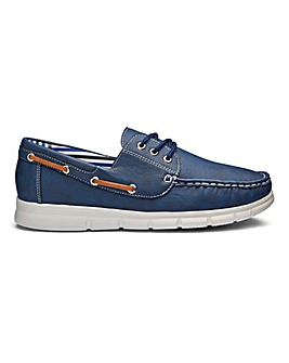 Cushion Walk Lace Up Boat Shoes Standard Fit