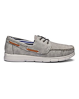 Cushion Walk Lace Up Boat Shoes Wide Fit