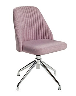 Habitat Nori Fabric Office Chair - Pink