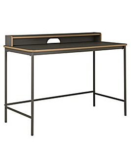 Wood Edged Desk - Two Tone