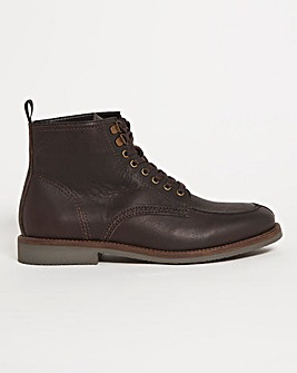 Dark Brown Chukka Leather Boot Wide Fit
