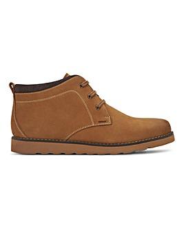 Tan Leather Nubuck Boot Wide