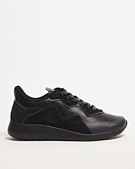 Black/Black PU Trainer Extra Wide