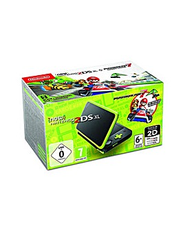 2DS XL Black and Lime Green and Game