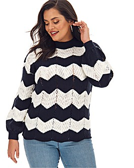 Wavy Stitch Jumper