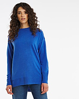 Cashmere Like Tunic With Button Detail