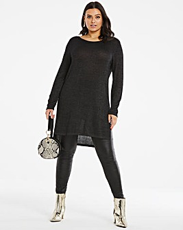Metallic Fine Knit Tunic