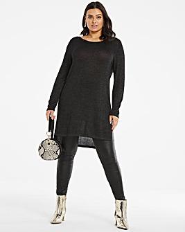 Metallic Fine Knit Tunic