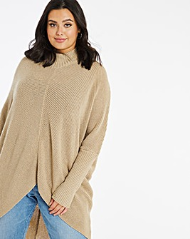 Cosy Chevron Ribbed Detail Jumper