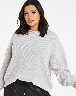 Engineered Rib Drop Shoulder Jumper