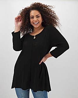 Black Dip Back Swing Tunic