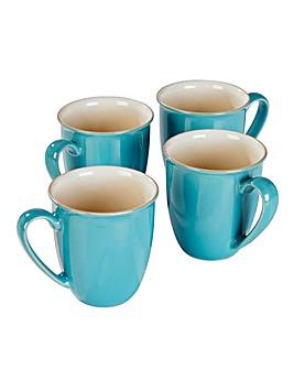 Denby 4 Piece Cook & Dine Mugs Azure