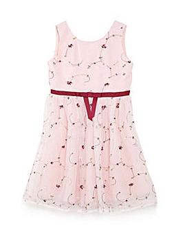 Yumi Girl Embroidered Party Dress