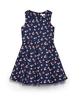 Yumi Girl Butterfly Print Prom Dress