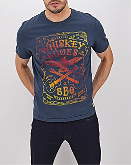 Whiskey Blues Graphic T-Shirt Long