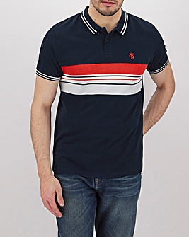 Colour Block Rib Insert Polo Long