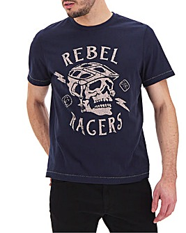 Rebal Racer Graphic T-Shirt Long