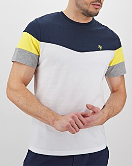 Chevron Colour Block Cut & Sew T-Shirt Long