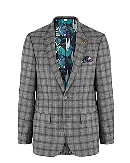 Grey Check Justin Regular Fit Suit Jacket