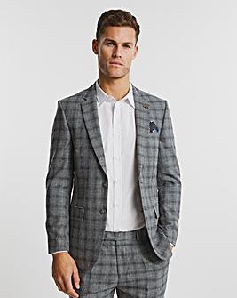 Grey Check Justin Regular Fit Suit Jacket