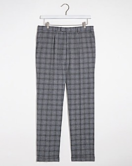 Grey Check Justin Suit Trousers