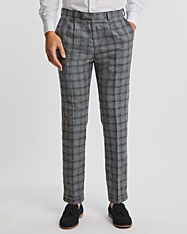Grey Check Justin Regular Fit Suit Trousers