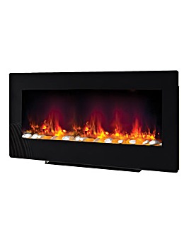 Be Modern 2 in 1 Amari Black Wall Mounted Electric Fire