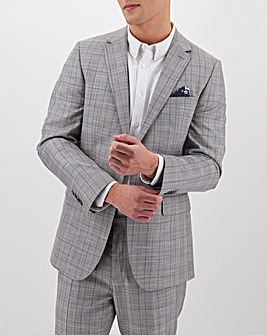 Light Grey Check Trevor Regular Fit Suit Jacket