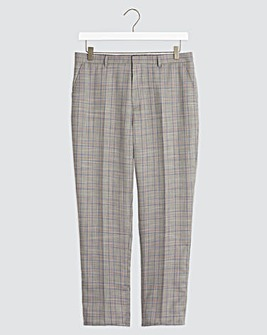 Light Grey Check Trevor Regular Fit Suit Trousers