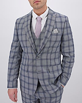 Grey Check Maurice Regular Suit Jacket