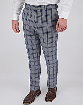 Grey Check Maurice Regular Fit Suit Trousers