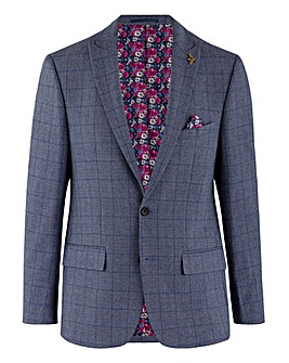 Denim Austin Windowpane Check Blazer